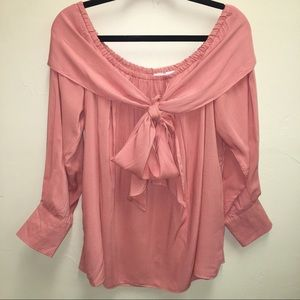 Entro - Off Shoulder 3/4 sleeve blouse SZ L NWT